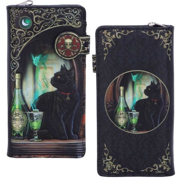 LISA PARKER Absinthe Black Cat Embossed Purse